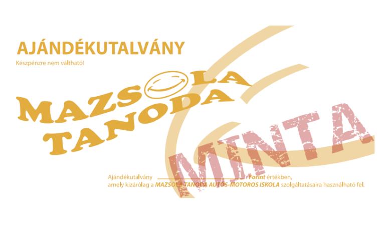 Mazsola Ajándékutalvány